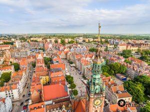 Gdańsk z lotu ptaka Orbin Studio