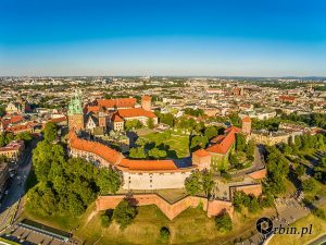 Kraków - Wawel z lotu ptaka Orbin Studio