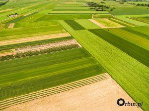 Krajobraz wiejski z lotu ptaka Orbin Studio