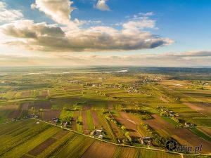 Wiejski krajobraz z lotu ptaka Orbin Studio