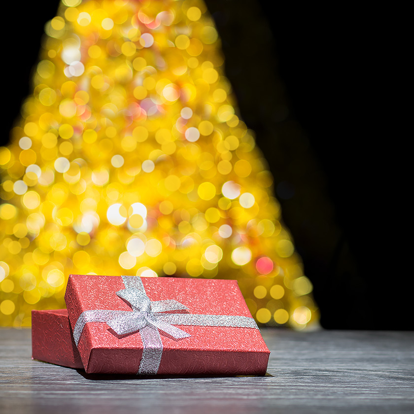 Pudełko prezentowe aranżacja