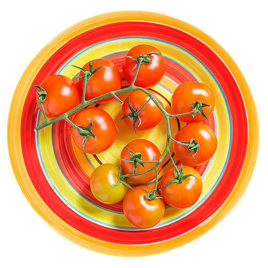 pomidory na talerzu - Fotografia Produktowa