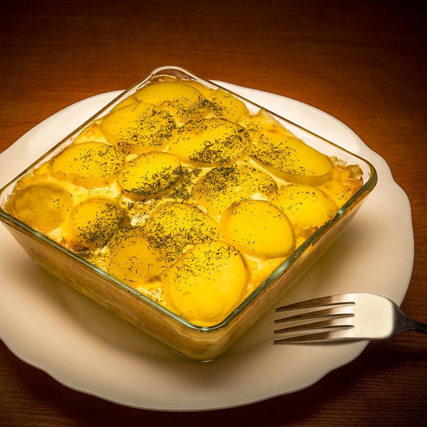 Zapiekanka ziemniaczna - Fotografia Kulinarna