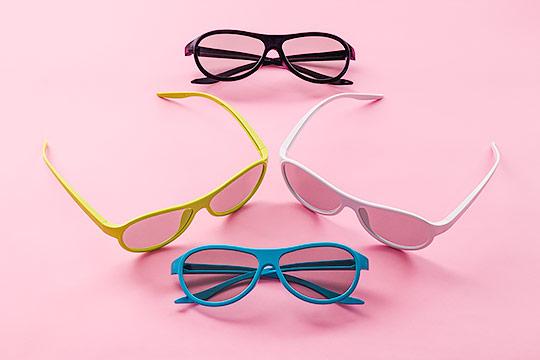 Okulary 4 kolory na różowym tle - Orbin Studio